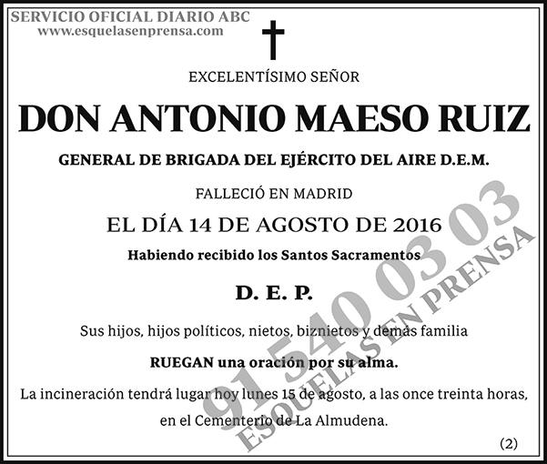 Antonio Maeso Ruiz